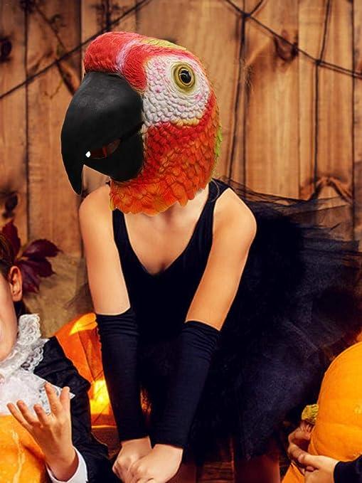 Depruies Máscara de Loro Rojo para Disfraz de Halloween o Fiestas ...