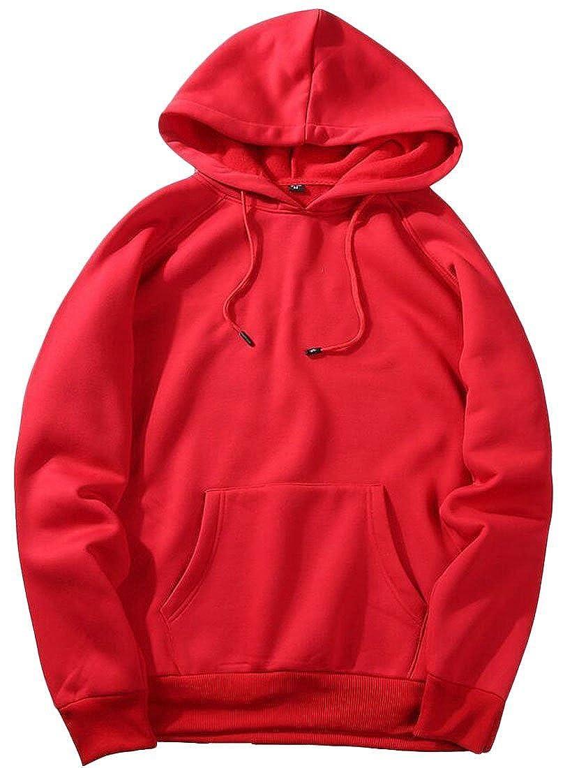 Zantt Mens Hoodies Athletic Solid Pullover Sweatshirts