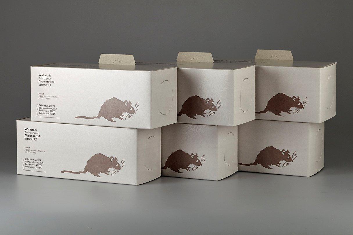 6 Stk. Rattenboxen inkl. Köder