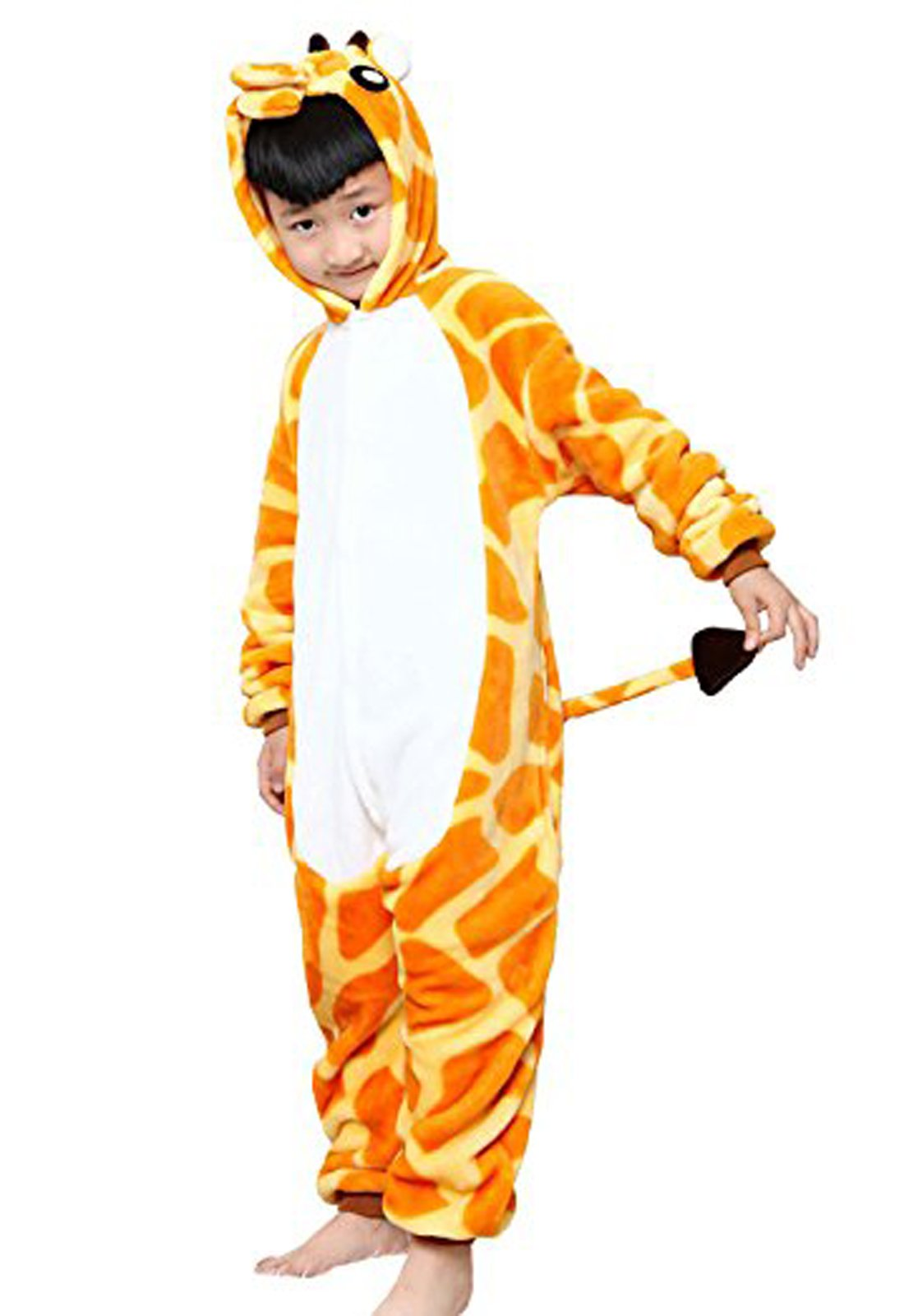 Eamaott Flannel Children Giraffe Cosplay Costume Christmas Onesie Pajamas Great Gift For Kids 125