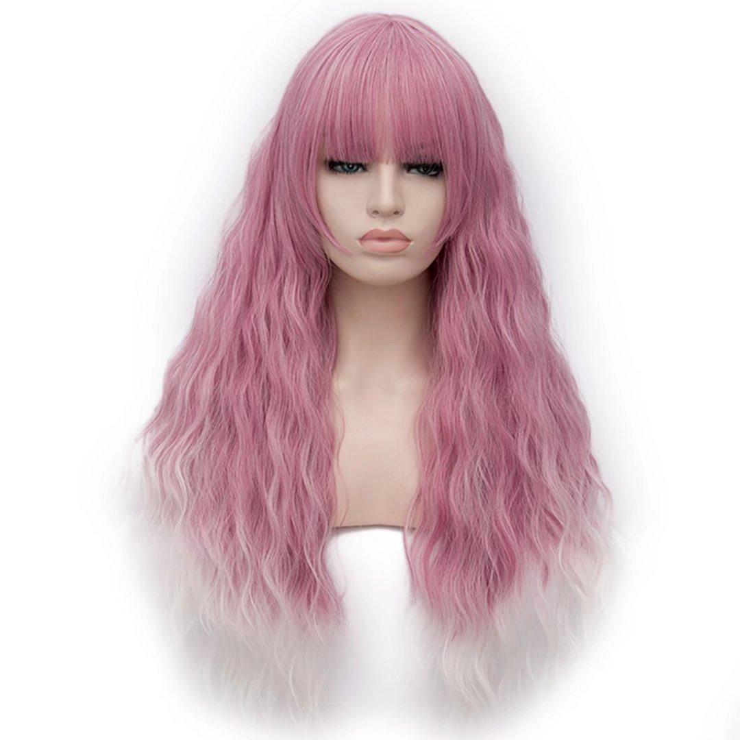 Estyle Fashion Parrucca lunga da 28 ricca resistente al calore Lolita Mode Harajuku Cosplay Wig parrucca + cappuccio parrucca