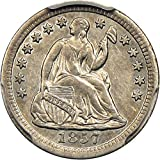 1857 O Seated Half Dimes Half Dime AU50 PCGS