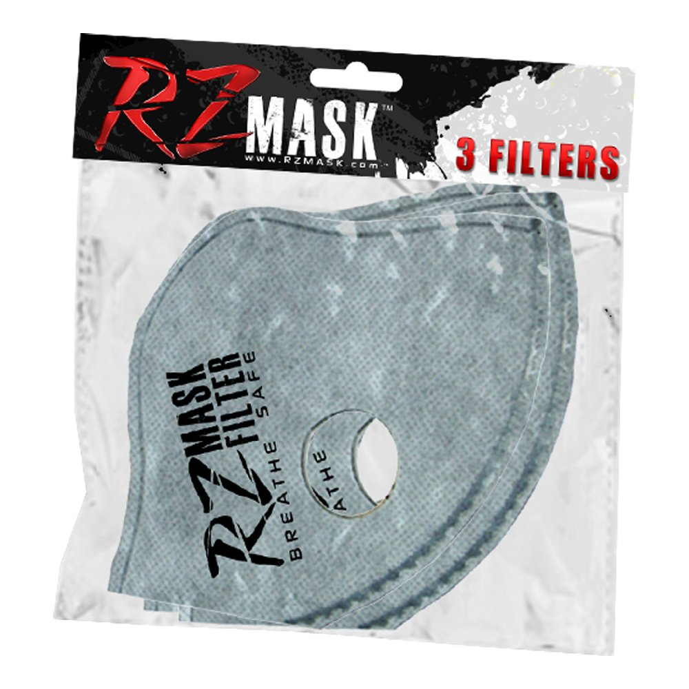 RZ Dust/Pollution Laboratory Tested F1 Active Carbon Filters Size XL 3 - Pack ? by RZ Mask