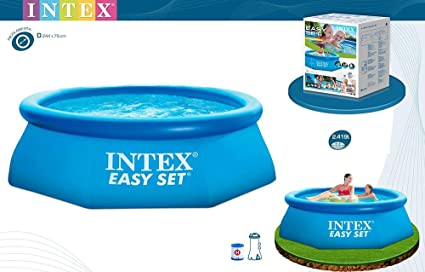 INTEX Piscina Easy Set 2,44 m x 76 cm con depuradora: Amazon.es: Juguetes y juegos