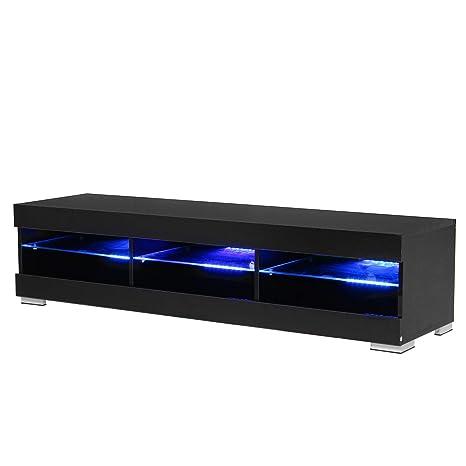 Amazon.com: Mueble de TV portátil desmontable de madera de ...