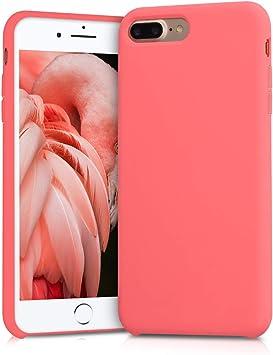 kwmobile Coque Compatible avec Apple iPhone 7 Plus / 8 Plus - Coque - Housse de téléphone Corail Fluo