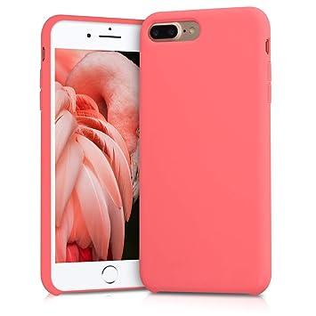 kwmobile Funda para Apple iPhone 7 Plus / 8 Plus - Carcasa de {TPU} para teléfono móvil - Cover {trasero} en {coral neón}