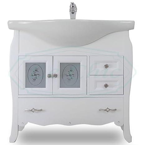 Lechic Arredamenti Arredo mobile bagno base con lavabo shabby chic ...