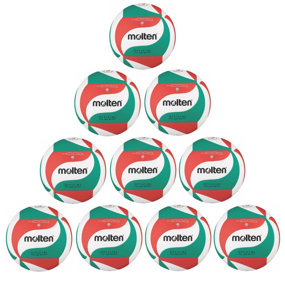 Molten - Balón de voleibol v5 m4000 parte 10 del paquete blanco ...