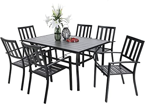 PHI VILLA 7 Piece Outdoor Patio Dining Set