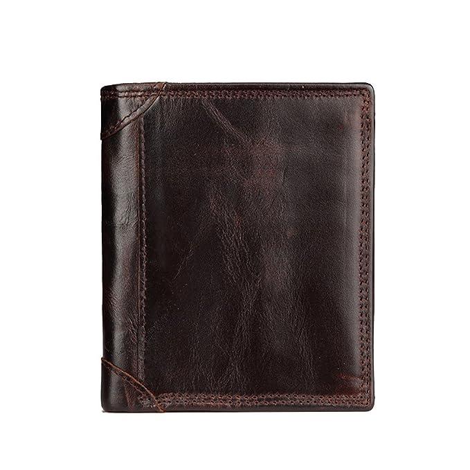 autentico 100% autentico nuovo arriva Zhhlaixing Portafoglio di lusso Mens Soft Cowhide Leather ...