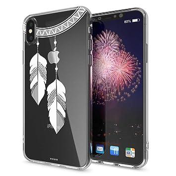 10d7fff4cec NALIA Funda Carcasa Compatible con iPhone X XS, Motivo Design Movil  Protectora Ultra-Fina