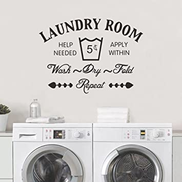 Laundry Room Quote Wall Sticker Home Decor Vinyl Removable Art Decal Home Room