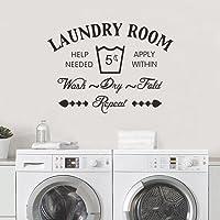 """decalmile """"Laundry Room Pegatinas De Pared Letras and Frases Patrón Desmontable Adhesivos Pared Decorativos para Cuarto…"""