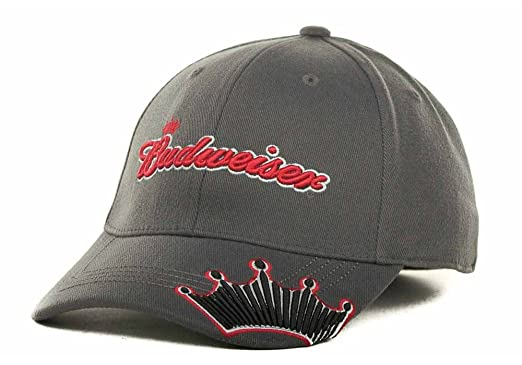 3a85edab8c0 Amazon.com  Budweiser Bud Beer Men s Size L XL Roster Fitted Hat Cap ...