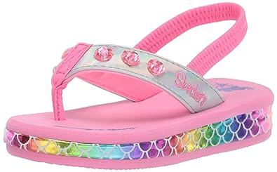 d6bb709d9197 Skechers Kids Girls  Sunshines-Mermaid Dreams Sneaker Silver Multi 5 Medium  US Toddler