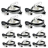 Retevis 2 Pin Covert Air Acoustic Tube Headset for Kenwood PUXING Baofeng UV-5R Retevis H777 RT7 2 Way Radio(10 Pack)