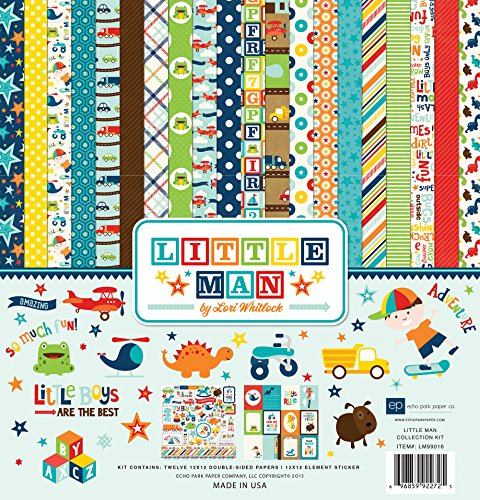 Echo Park Paper Company LM99016 Little Man Collection Kit by Echo Park Paper Company