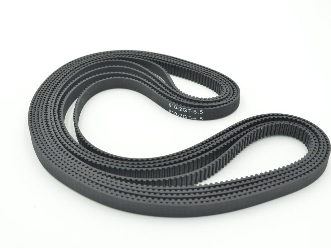 POWGE GT2 Timing Belt L=610mm W6=6mm 305 Teeth Color Black Pack in Closed Loop Of 10pcs Ningbo Jiangbei Powge Transmission Component Co. Ltd