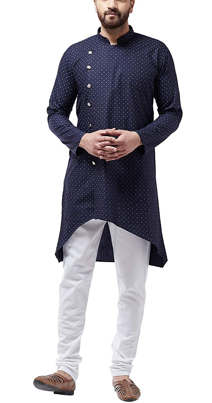 Bollywood-Indian-Kurta-Pajama-Dress-Tunic-Printed-Top-Men-Kurta-Ethnic-Wear thumbnail 24