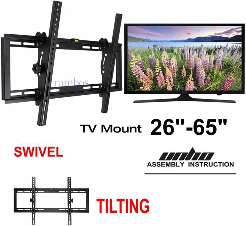 Montaje de televisor en pared Unho 15° de inclinación y giratorio ...