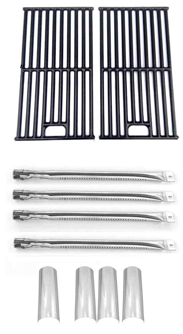 Master Forge SH3118B Gas Grill Model Repaid Kit  4 Stainless Steel Burners, 4 Stainless Steel Heat Plates and Porcelain Coated Cast Iron Grates