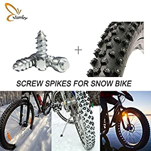 Marrkey Car Tires Studs Screw Snow Spikes Wheel Tyres Snow Chains Studs For Car Vehicle Truck Motorcycle Tires Winter Universal (4mm (W) X 12mm(L))