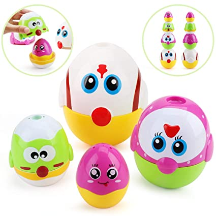 Amazon.com: Muñecas apilables de huevo de pollo de Pascua ...