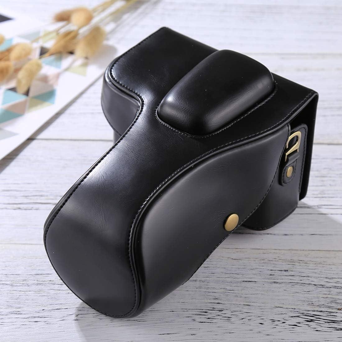 D3300 Color : Black ZQ House Full Body Camera PU Leather Case Bag for Nikon D3200 D3400 18-55mm // 18-105mm Lens