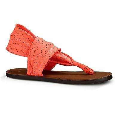 Sanuk Womens Yoga Devine Sandal Hot Coral Size 6