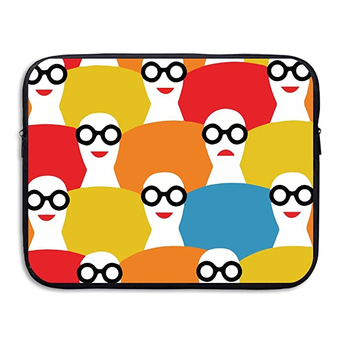 a867a36189ac Amazon.com: Funny Woman Glasses Laptop Sleeve Case Bag Cover For 13 ...