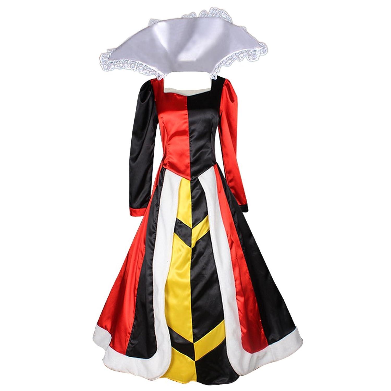Women's Cosplay Queen of Hearts Satin Dress