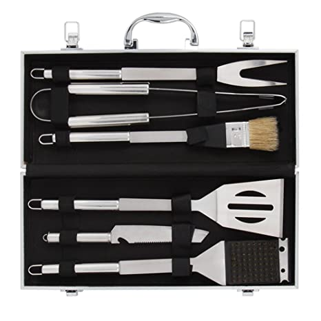 Charmant BBQ Grill Tools Set With 6 Pieces Stainless Steel BBQ Utensils U0026 Luxury  Presentation Storage Case