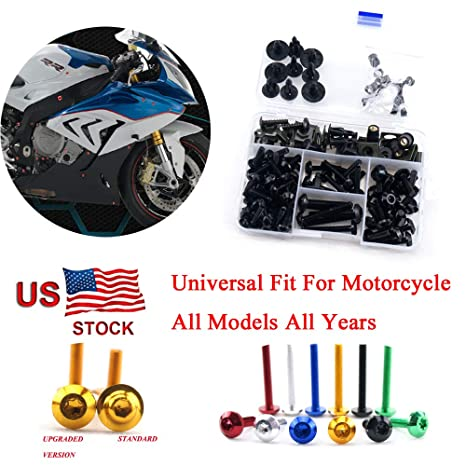 Complete New Bolts Kit Screws Fasteners Hardware Fit for HONDA 2006 2007 CBR1000RR Black USA Stock