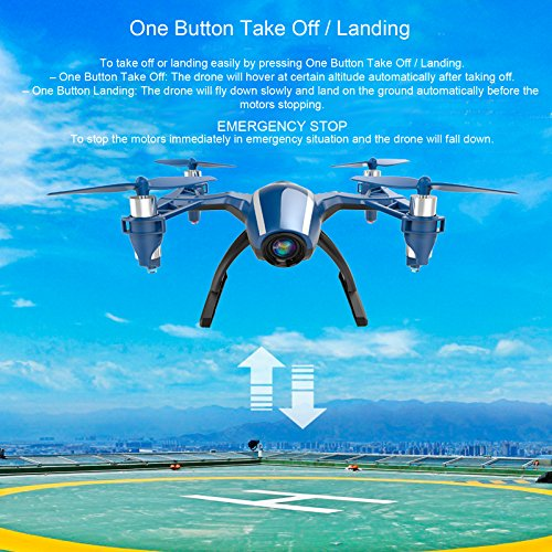 61r9hkl2IqL Cheerwing Peregrine Wifi FPV Drone RC Quadcopter with Wide-angle 720P HD Camera, Altitude Hold and Flight Route Mode, One Key Take Off / Landing, Upgrade Version