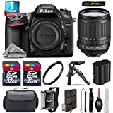 Holiday Saving Bundle for D7200 DSLR Camera + 18-105mm VR Lens + 2 Of 32GB Card + 1yr Extended Warranty + Case + Tripod & Pistol Grip + Cleaning Brush + Cleaning Kit + UV - International Version