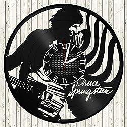Bruce Springsteen Vinyl Record Wall Clock Handmade Art Decor Your Room Original Gift