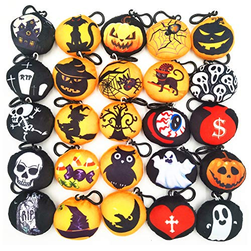 Time-killer Emoji Party Supplies Favors,Emoji Keychain for Kids Students (Halloween 25 Pack)