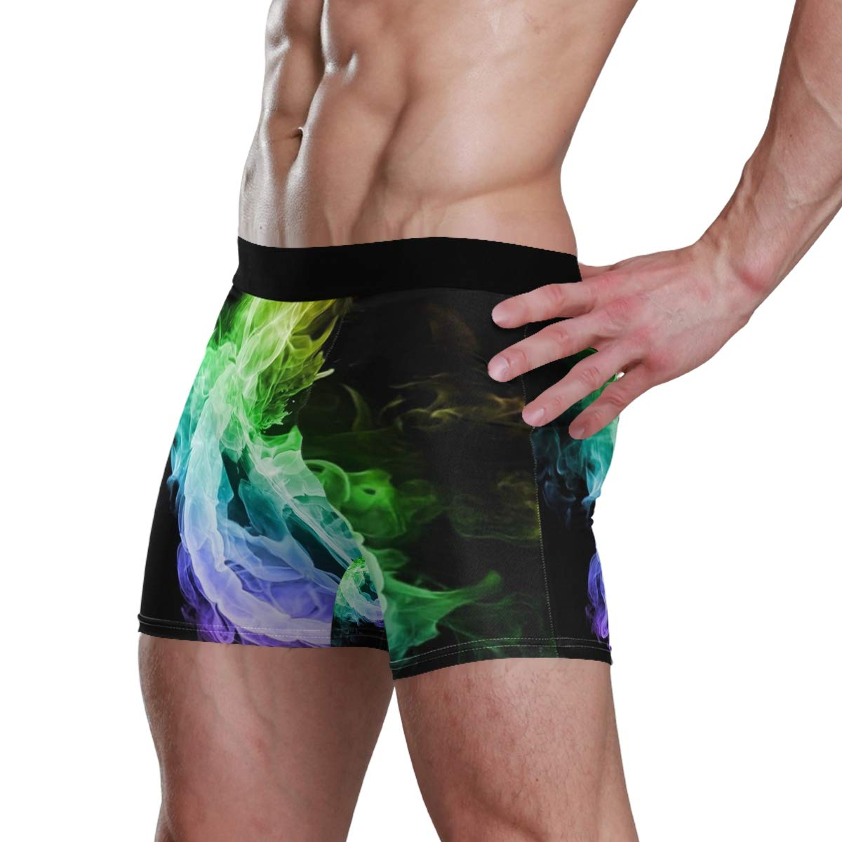 TARDIGA Colored Flames Musical Note Mens Boxer Briefs Underwear Comfortable Breathable Tagless Short Leg Boxers Brief