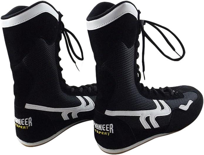 High Top Boxschuhe f/ür Herren Damen Kinder Atmungsaktive Boxer Stiefel