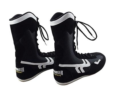 c6e1feaa9436 High Top Boxing Shoes Boxer Boots for Men Women Kids  Amazon.co.uk ...
