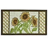 Bacova Sunflower Frame 22.4-Inch x 40-Inch Berber Kitchen Rug in Yellow/Green Review