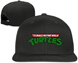 hittings Teenage Mutant Ninja Turtles Unisex Fashion Cool Adjustable Snapback baseball cap hat One Size Black