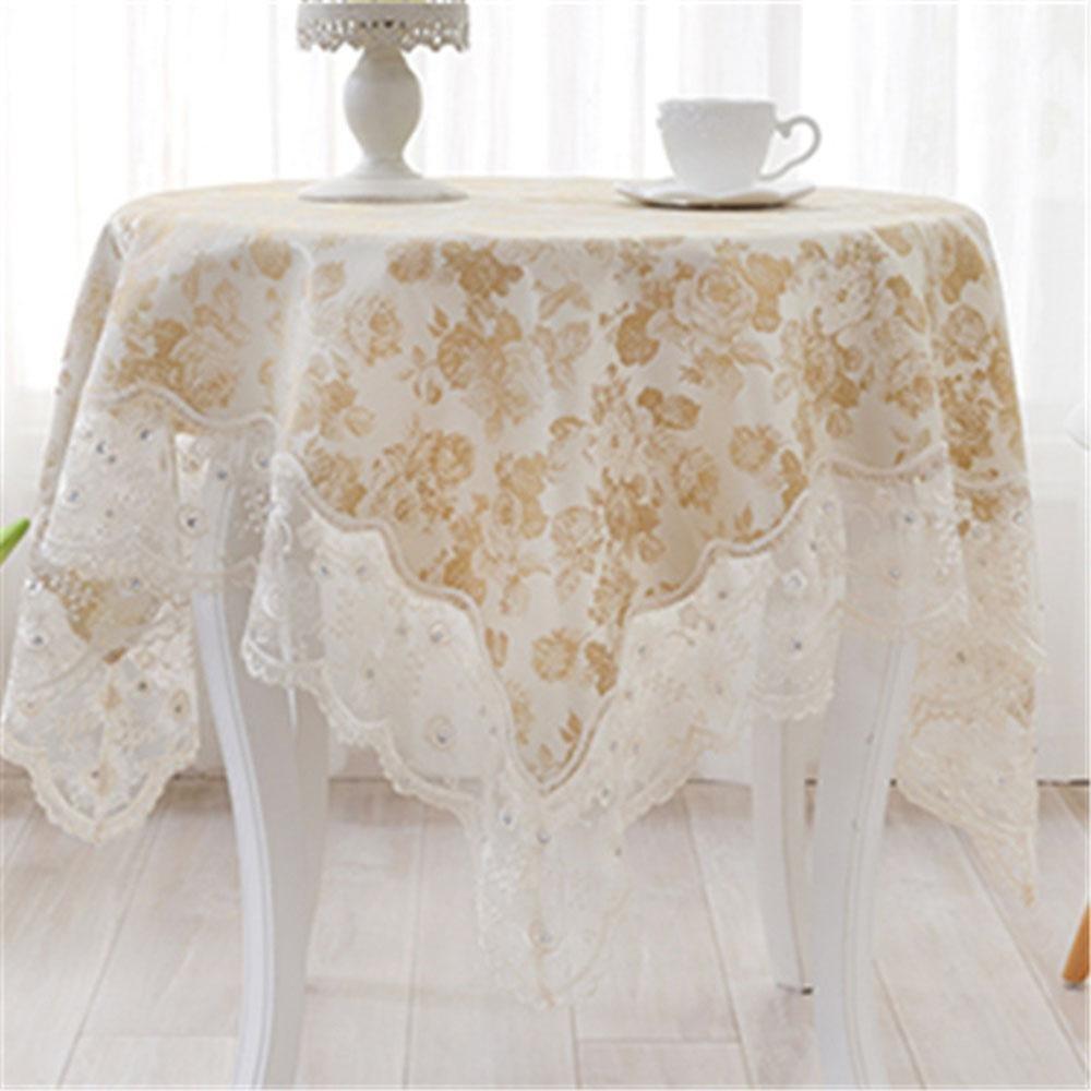 Fashion Dentelle Polyester Nappe De Table Housse en tissu protecteur de linge de table cover