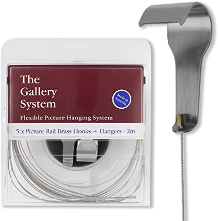 The Gallery System GBLPRANG5S Stainless Steel Picture Rail Hangers