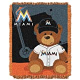 MLB Miami Marlins Field Woven Jacquard Baby Throw Blanket, 36x46-Inch