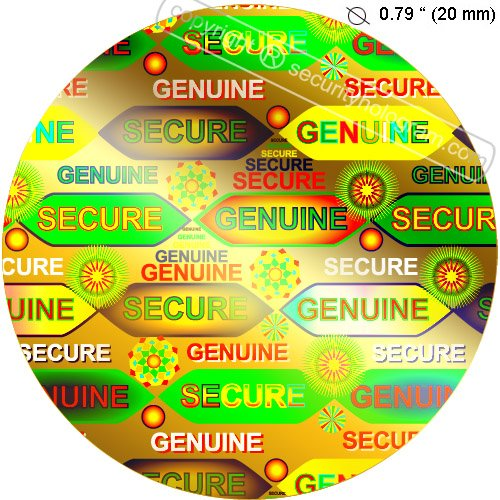 147 Seal AnythingTM Gold Circle Security Holograms .79