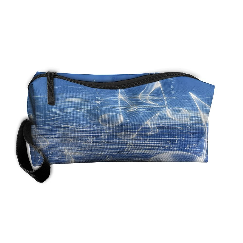 frtsflee Magical Water with Musical Notes泡鉛筆ケース旅行化粧品バッグ受信バッグ鉛筆バッグ耐久性ポーチジッパーBig容量Traveメイクアップオーガナイザーバッグ   B07DPH6YQR
