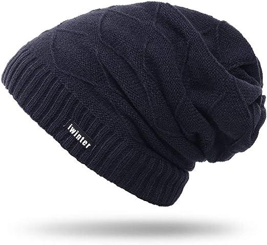 Imagen deAibrou Sombrero de Invierno Gorro Invierno Hombre Sombreros para Mujer Gorro de Punto Invierno Caliente Tejido Unisex