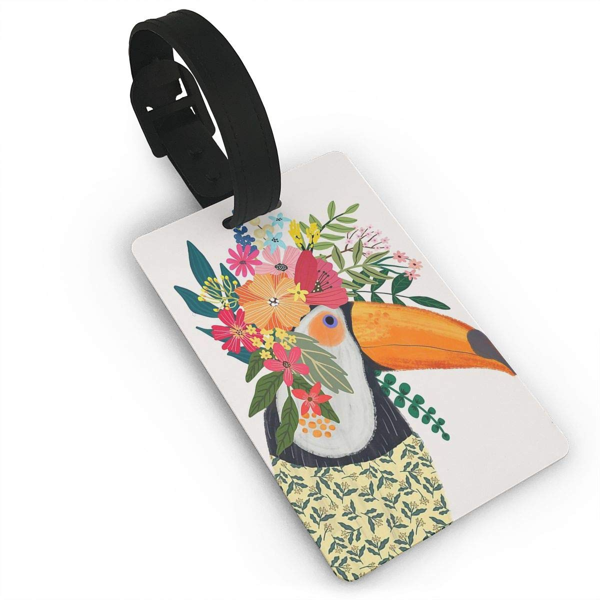 2 Pack Luggage Tags Toucans Pattern Travel Tags For Suitcase Bag Accessories